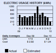 Our electricity net-usage for 2010