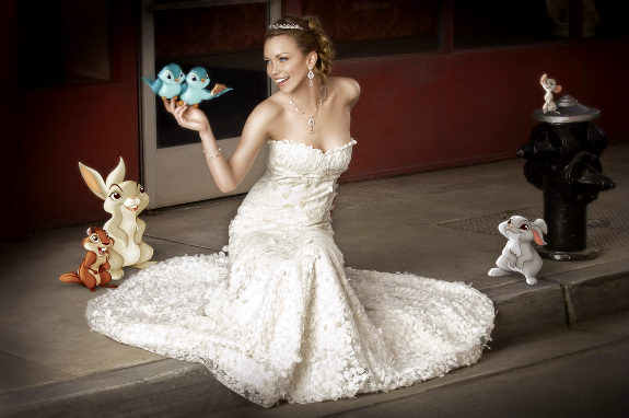 Disney princess wedding style for Disney style wedding dresses