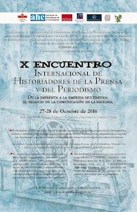 Cartel X Encuentro Internacional de Historiadores de la Prensa
