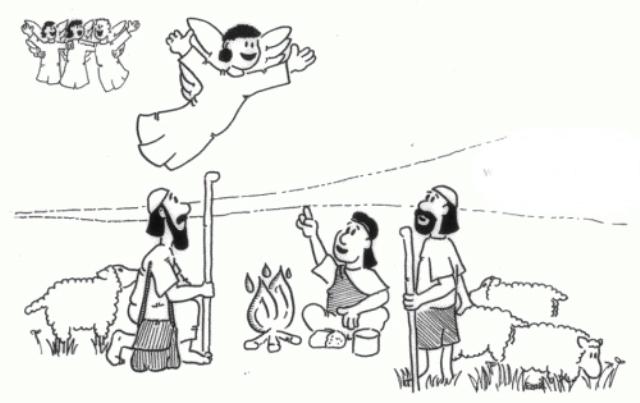 El Angel que Anuncio el Nacimiento de Jesús a Los Pastores.