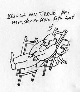 Besuch von Freud. Bei mir, der er kein Sofa hat