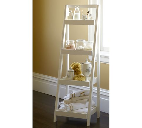 Serendipity binkies and briefcases for Bathroom ladder shelf