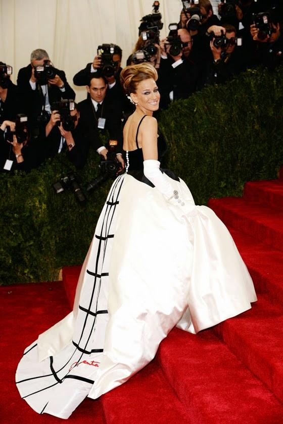 SJP Oscar de la Renta dress Met Gala 2014