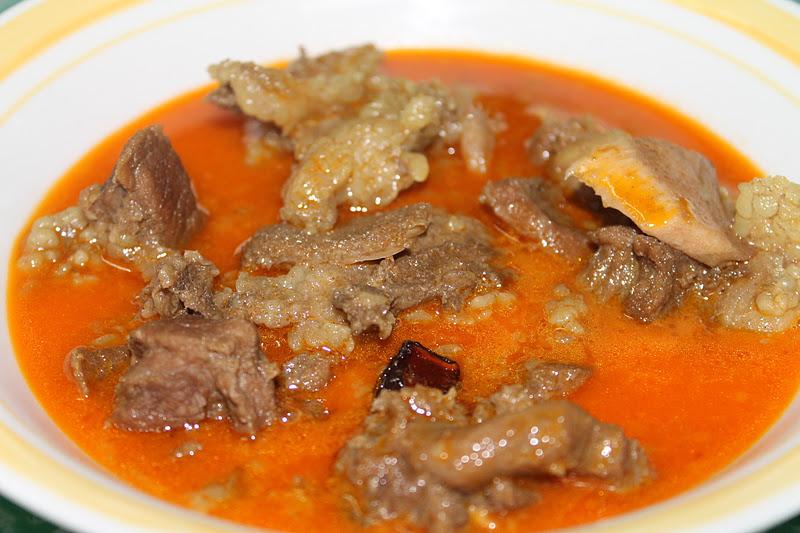 gulai kawah daging kambing aqiqah   azie kitchen