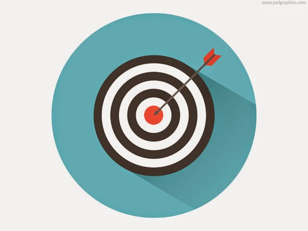 Dart on Target Icon PSD