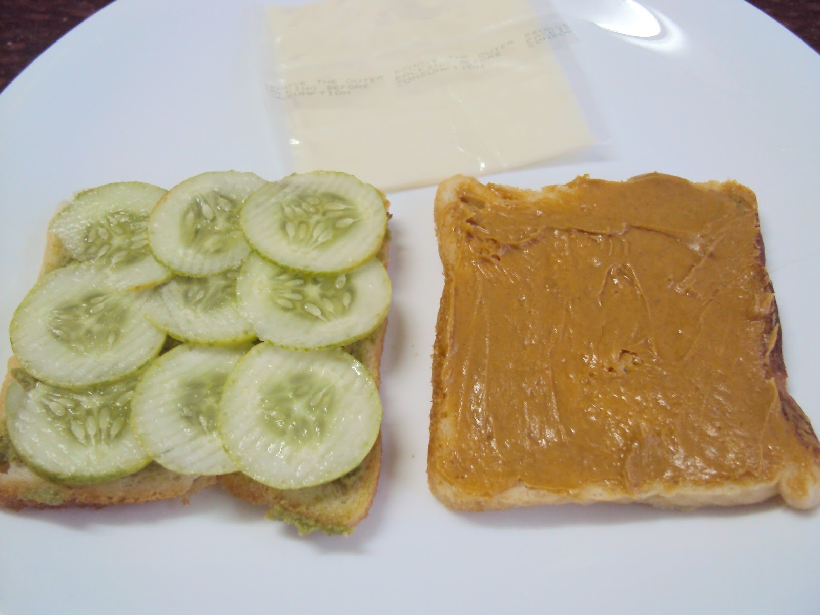 Nayana 39 s kitchen kreations cucumber peanut butter sandwiches for 1 tablespoon of peanut butter