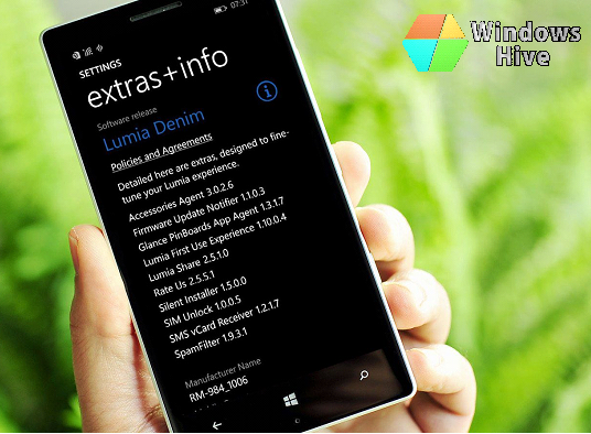 Lumia Denim on Lumia phone