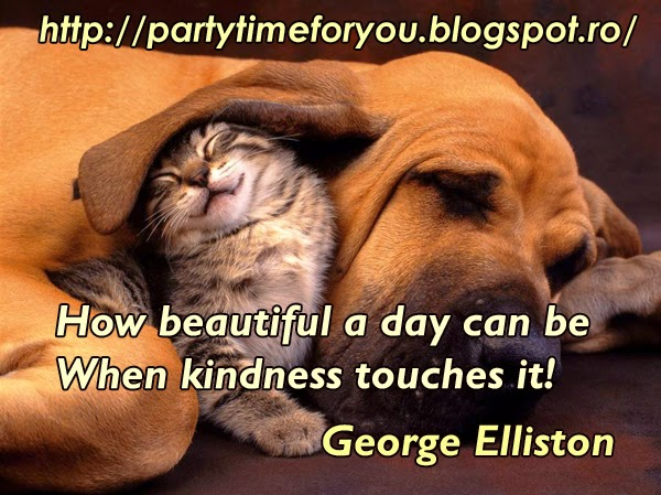 How beautiful a day can be When kindness touches it!