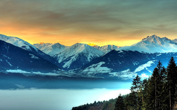 wallpapers icy mountains