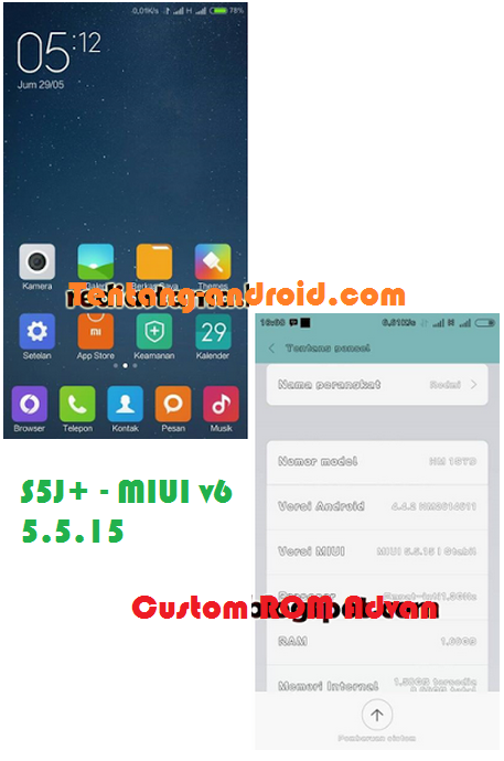 Download Custom ROM Advan S5J+ - ROM MIUI v6 5.5.15 Ringan