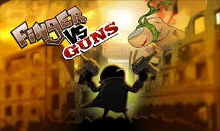 Screenshots of the Finger vs guns for Android tablet, phone.