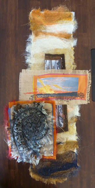 textile art, rangitoto, alysn midgelow-marsden