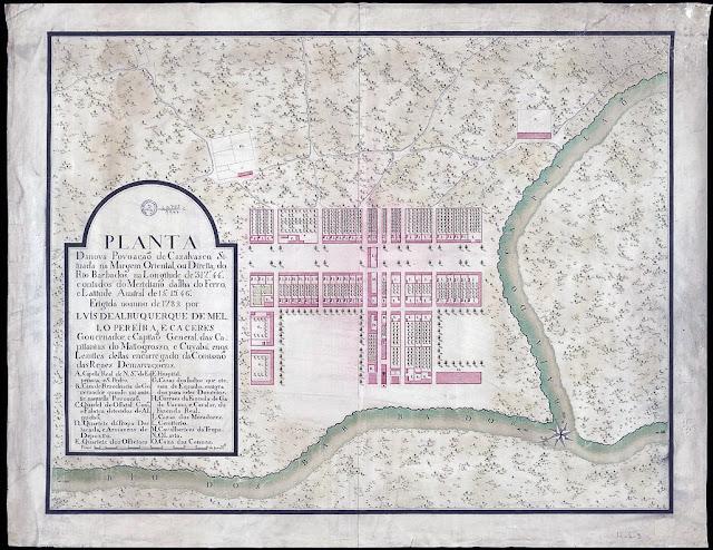 Planta da nova povoação de casal vasco em 1782