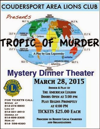 3-28 Tropic Of Murder Mystery Dinner Theater