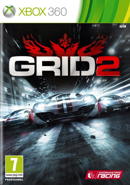Llamativa portada de Grid 2 para XBOX 360