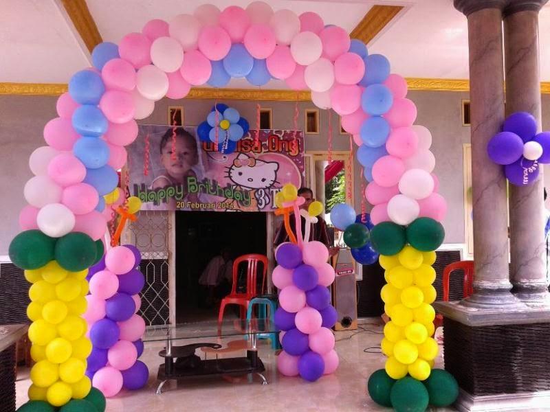 Gambar balon untuk dekorasi ulang tahun anak