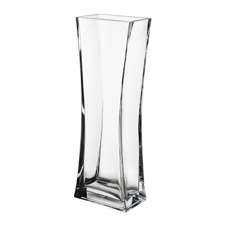 Jarron alto de cristal transparente