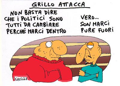 Grillo attacca - Vignetta