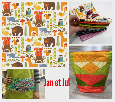Telas de patchwork en Jan et Jul