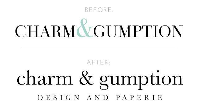CHARM & GUMPTION LOGO TWEAK
