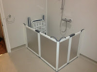 wetroom shower for person with limited mobility