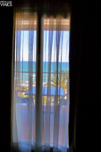 Ventanal de la Habitación del Hotel Calípolis Sitges