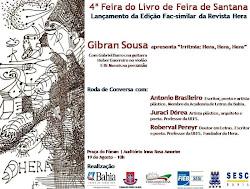 show do poeta gibran sousa na 4ª feira do livro de feira de santana-ba