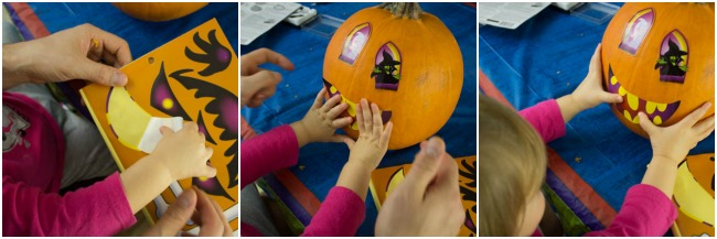 Have kids decorate pumpkins with stickers. 5 Tips to make pumpkin carving fun with kids.