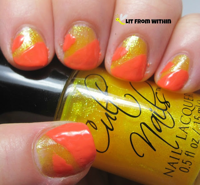 Cult Nails All Out, a yellow shimmer, meant to be a topper