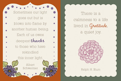Grateful Life - Journaling Cards - Day 19-20