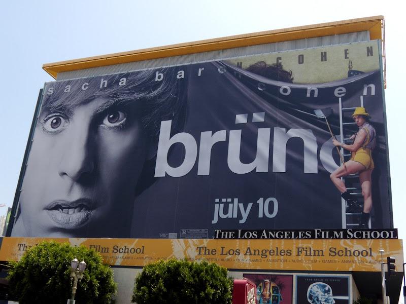 Bruno movie billboard
