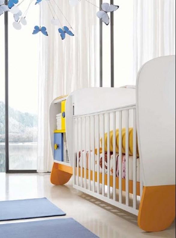 Dise o de dormitorio de bebe y ni os que crecen infantil decora - Dormitorio de bebe nino ...