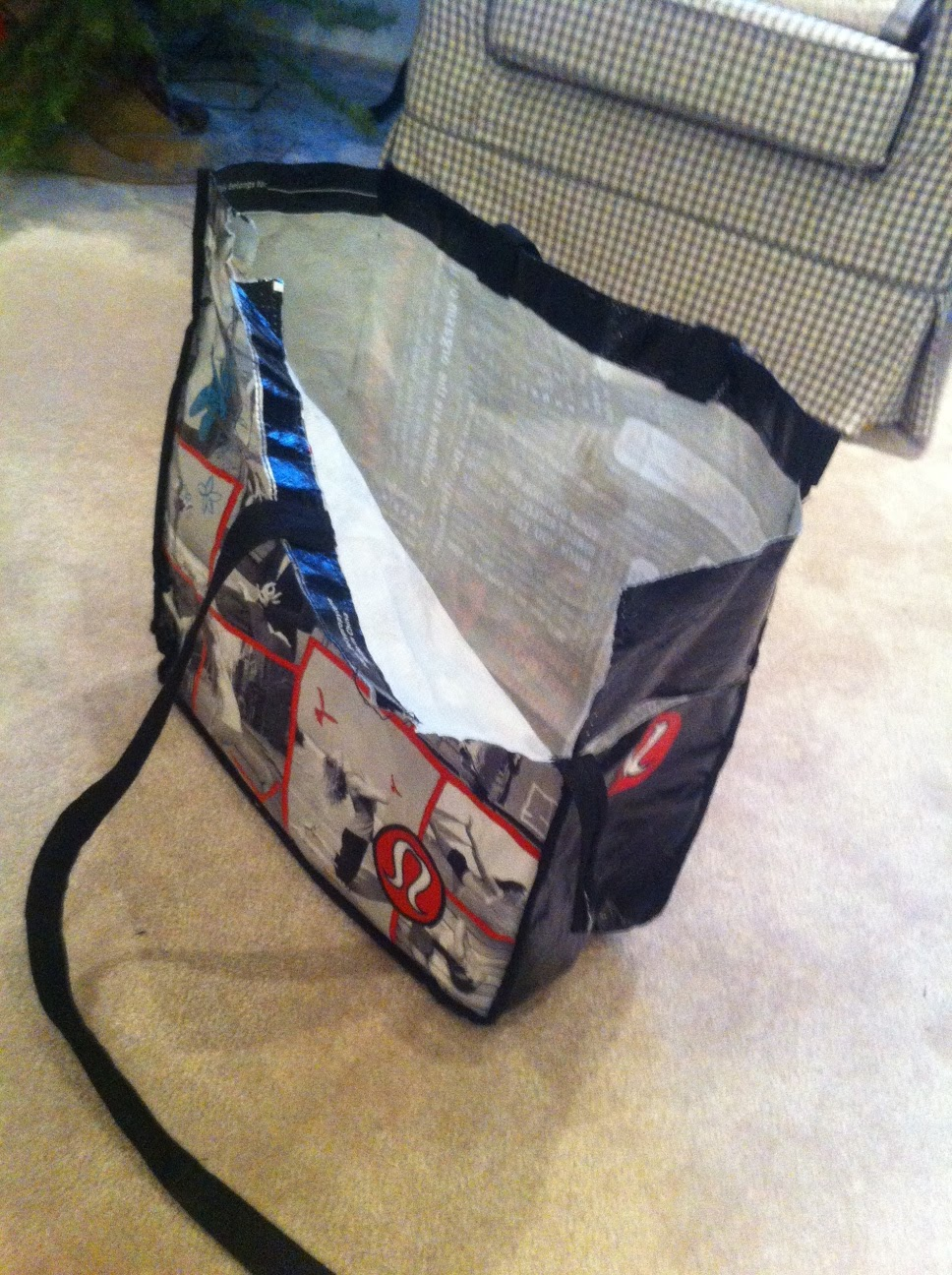 Heather S Creations Creating A Yoga Mat Bag From A Broken