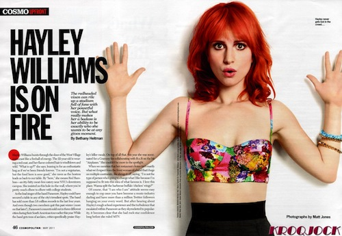 hayley williams 2011 cosmopolitan. hayley williams 2011
