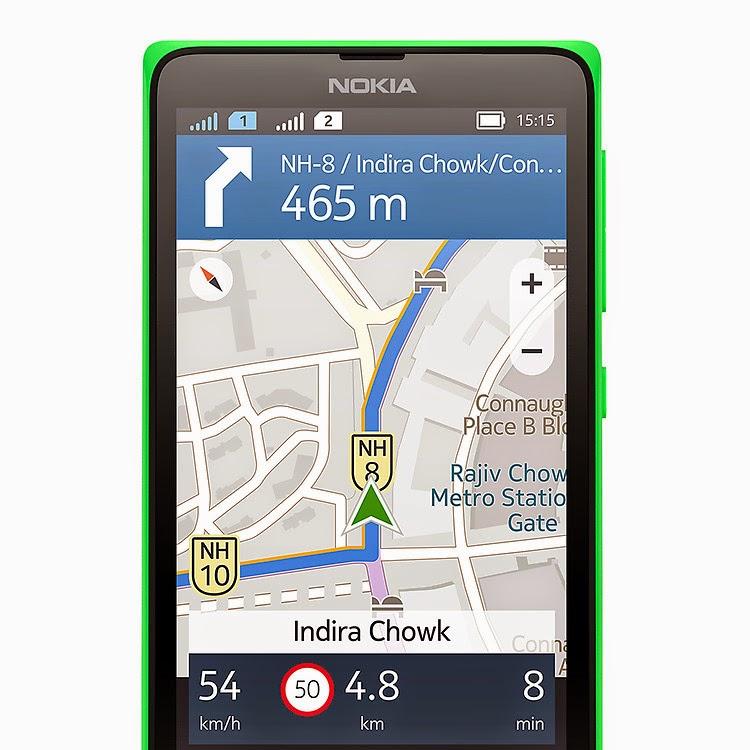 Nokia X+ Dual Sim Here Maps