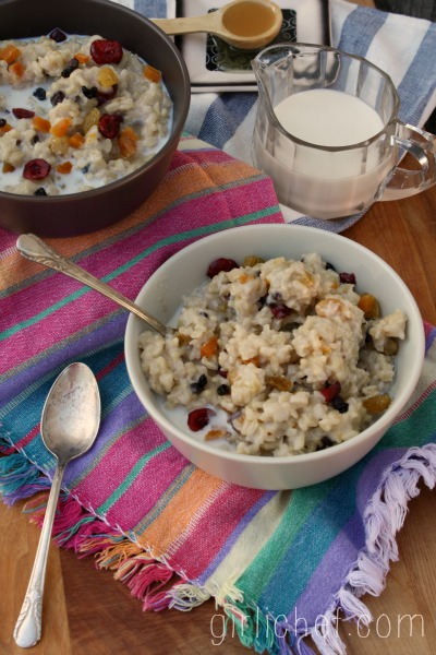 Brown Rice Breakfast Pudding