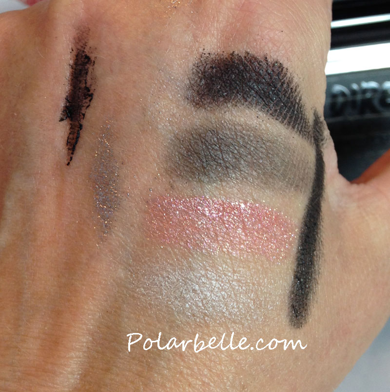 eyeshadow palette, Blacker than Black eye and body pencil, stencils