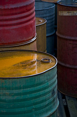 Colorful Old Oil Barrels