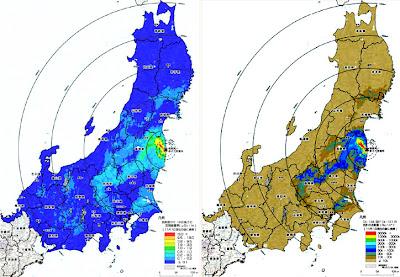 文部科学省の放射能汚染マップ