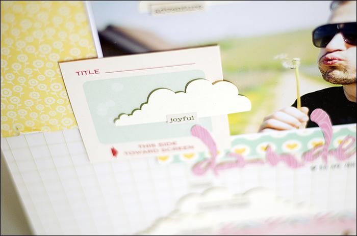 Scrapbooking layout, Dandelion, Pusteblume