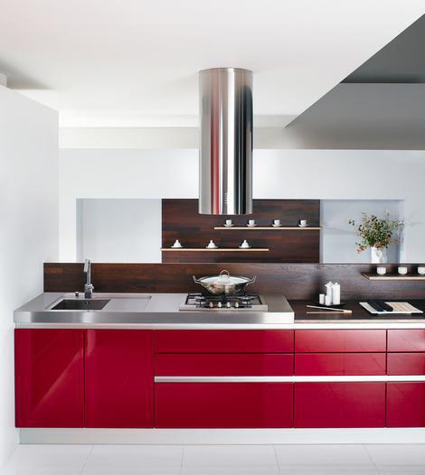 Hogares frescos dise os de cocinas rojas for Diseno interior cocina