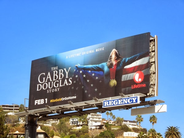 Gabby Douglas Lifetime movie billboard