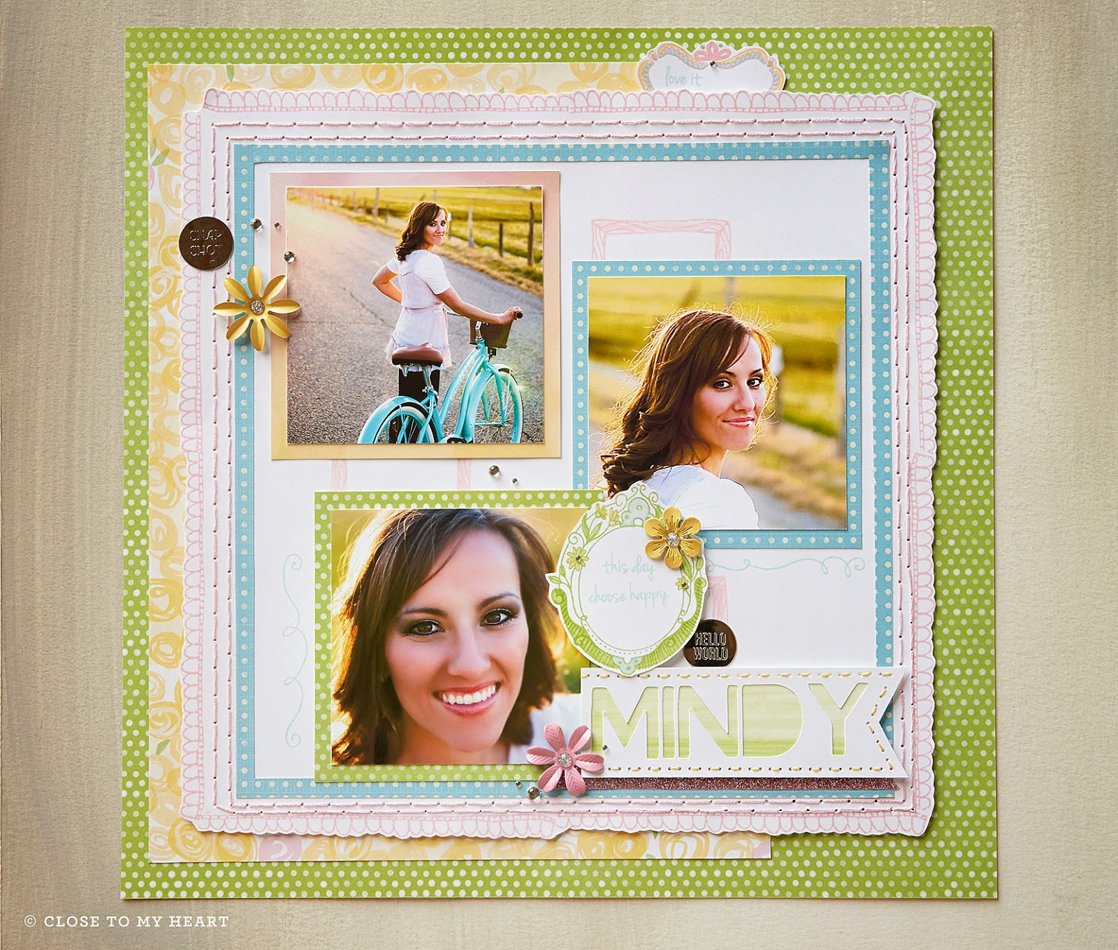 CTMH Scrapbook Layout Using March 2015 SOTM