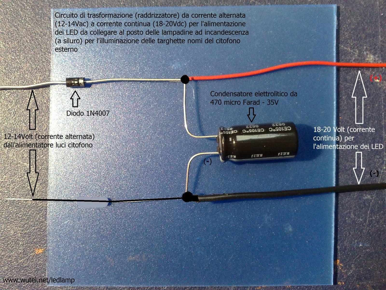 Schemi Elettrici Per Led : Freccie a led a v in corrente alternata u il forum di electroyou