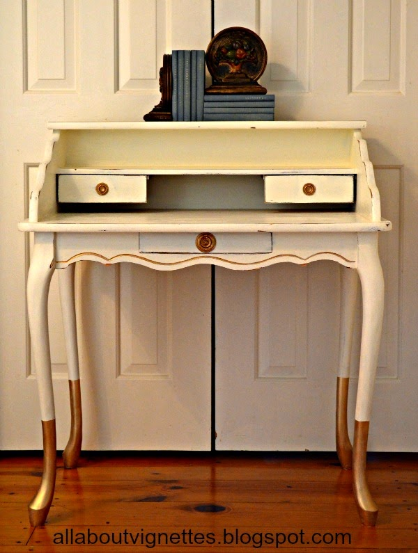 All About Vignettes Updating A Ballard Design Writing Desk