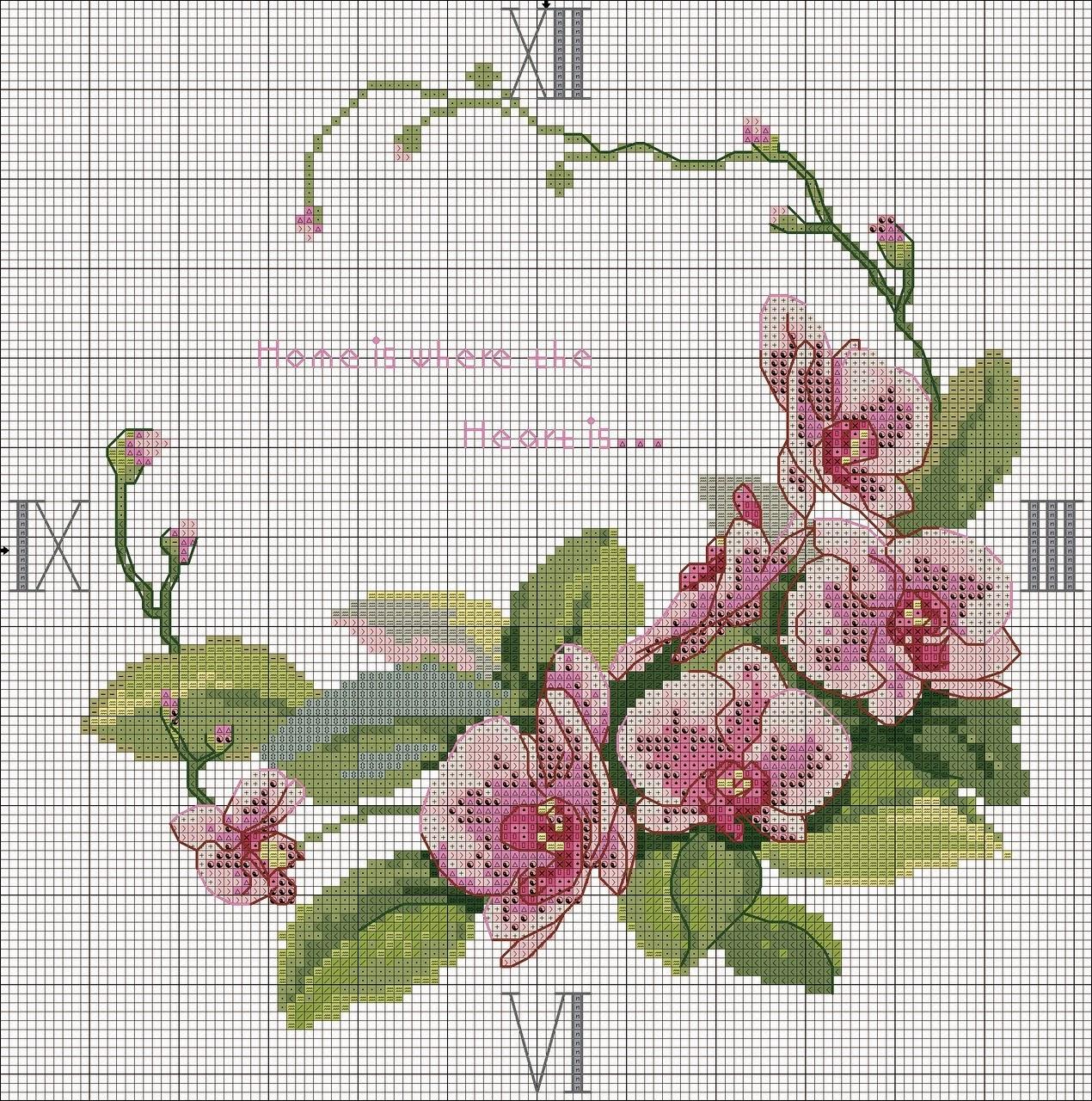 Схема вышивки крестом интерьер