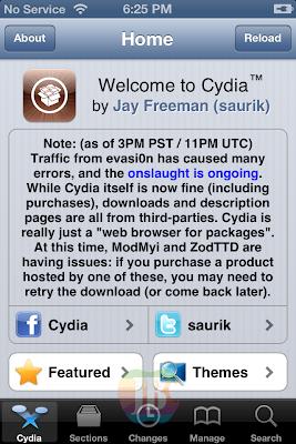... Jailbreak iOS 6.x Untuk iPhone dan iPod Touch Dengan Evasi0n   Cara