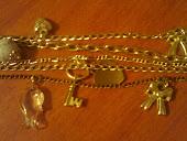 bracelete 5 correntes com pingentes