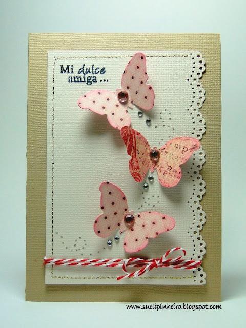 Tarjeta con mariposas