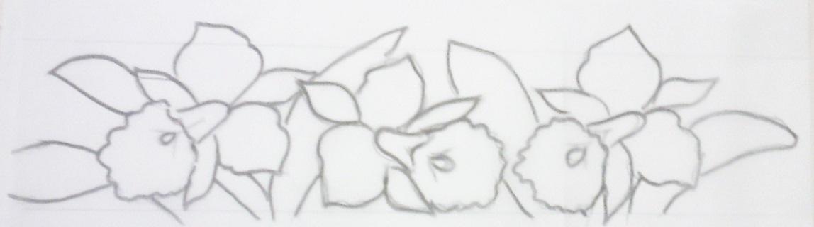 risco de orquídea para pintar